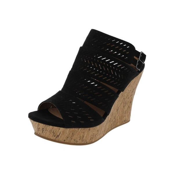 Not Rated Womens Ellana Platform Sandals Open Toe Cork