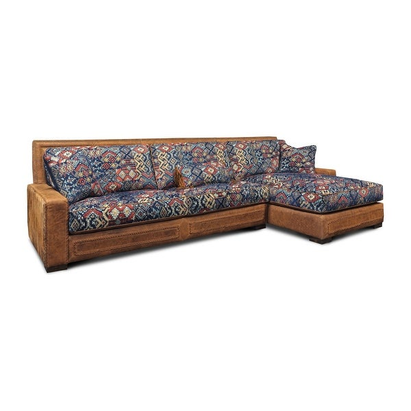 Downtown Cowboy Top Grain Leather Sectional with Chaise. Opens flyout.