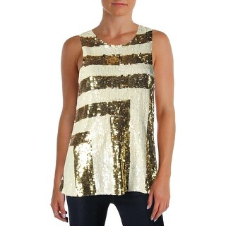 Julie Brown Womens Eileen Blouse Sequined Striped
