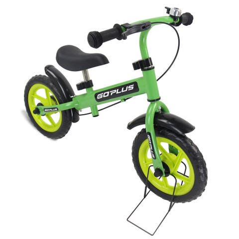 """12"""" Three Colors Kids Bike Bicycle with Brakes and Bell-Green"""