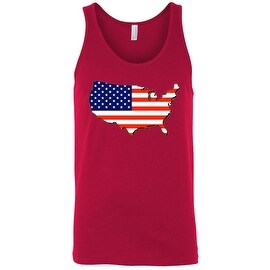 Men's USA Flag Tank Top Patriotic Country Red White Blue Old Glory American