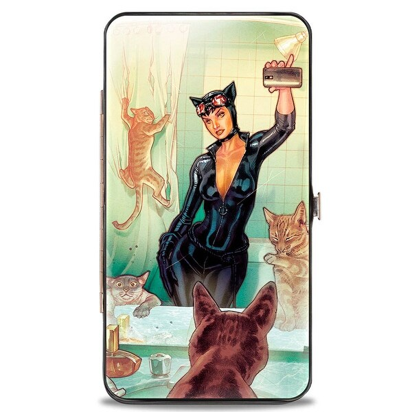 Catwoman Issue #34 Selfie Variant + Issue #1 Cover Poses Hinged Wallet - One Size Fits most