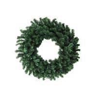 """36"""" Deluxe Windsor Pine Artificial Christmas Wreath - Unlit - green"""