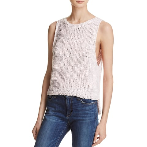 Banjara Womens Tank Top Sweater Hi-Low Hand Woven