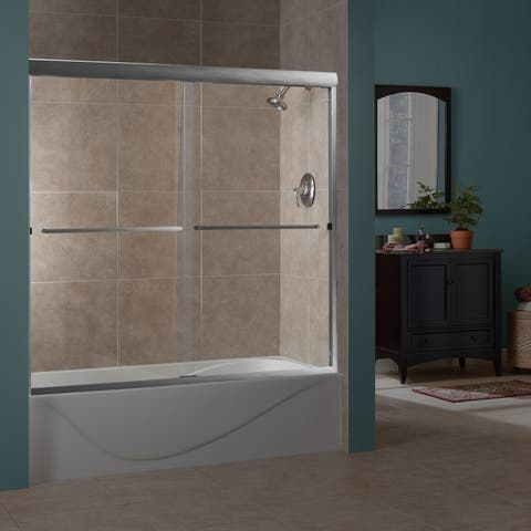"""Miseno MTDC6060 Azul 60"""" High x 56-60"""" Wide Sliding Framed Shower Door with 1/4"""" Clear Glass -"""