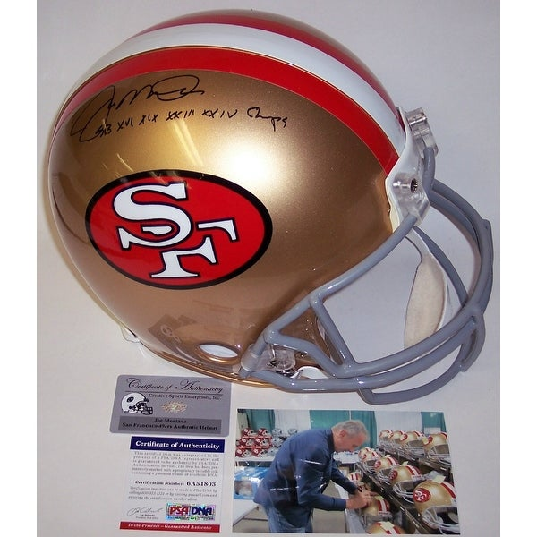 5e2b5688d57 Shop Joe Montana Autographed Hand Signed San Francisco 49ers Throwback  Authentic Helmet - PSA DNA - Free Shipping Today - Overstock - 12904801