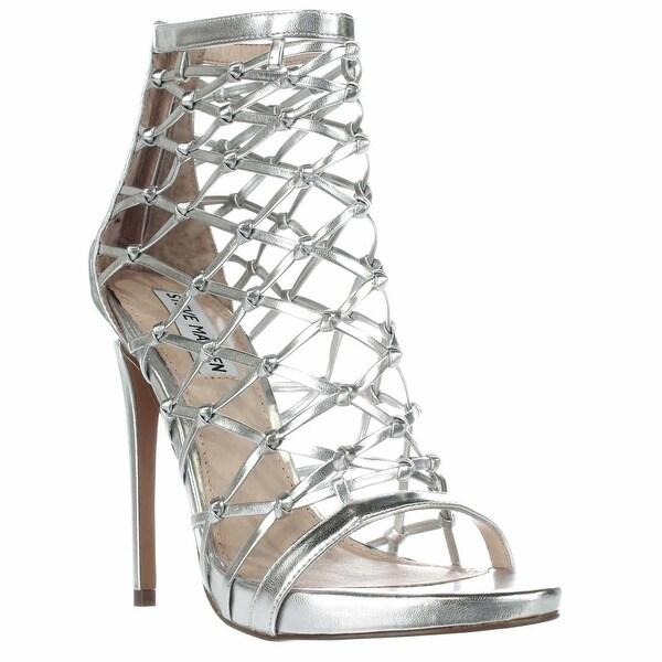 Steve Madden Ursula Caged Sandals, Silver