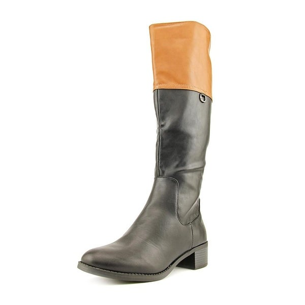 Easy Street Scotsdale Women Round Toe Synthetic Black Knee High Boot