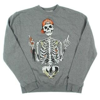 Trukfit Mens Heathered Graphic Crew Sweatshirt - S