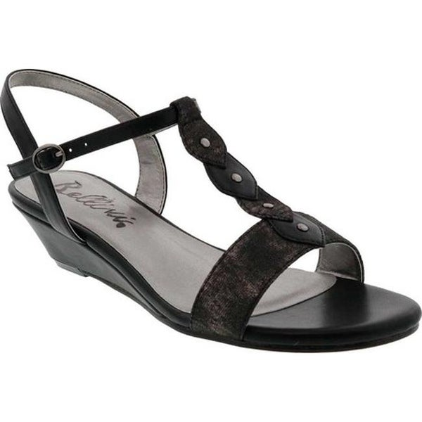 f02ff2084 Shop Bellini Women s Lively T-Strap Sandal Black Faux Leather - On ...