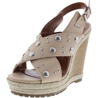 Rebecca Minkoff Womens Kimiko Stud Leather Espadrille Wedge Sandals - 8.5 medium (b,m)