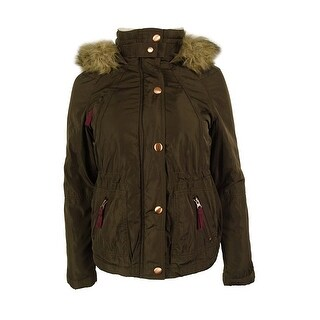 American Rag Women's Faux Fur Trim Hooded Parka
