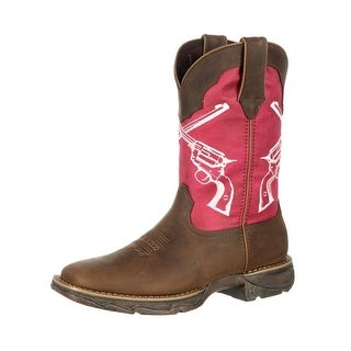 Durango Western Boots Womens Rebel Crossed Guns Leather Brown
