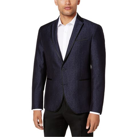 Kenneth Cole Mens Shine Dinner Two Button Blazer Jacket