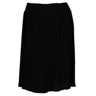Calvin Klein Women's Side Zipper Pleated Skirt - XL