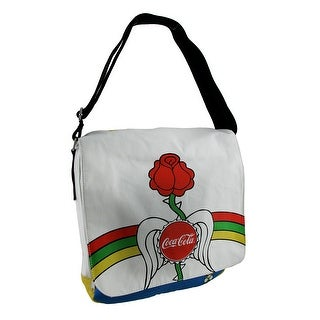 Officially Licensed Coca-Cola Rainbow Peace Rose Cotton Canvas Messenger Bag