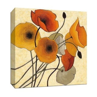 """PTM Images 9-153183  PTM Canvas Collection 12"""" x 12"""" - """"Pumpkin Poppies II"""" Giclee Flowers Art Print on Canvas"""