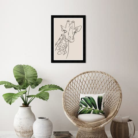 Wynwood Studio 'Spots in Lines' Animals Wall Art Framed Print Zoo and Wild Animals - Black, White