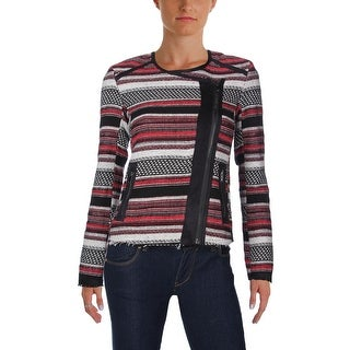 Jessica Simpson Womens Jacket Long Sleeves Striped