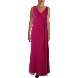 Lauren Ralph Lauren Womens Georgette Evening Dress Pleated
