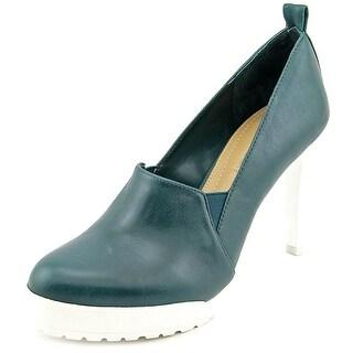 BCBG Max Azria Putt Women Open Toe Leather Platform Heel
