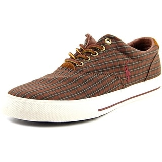 Polo Ralph Lauren Vaughn Men Leather Brown Fashion Sneakers