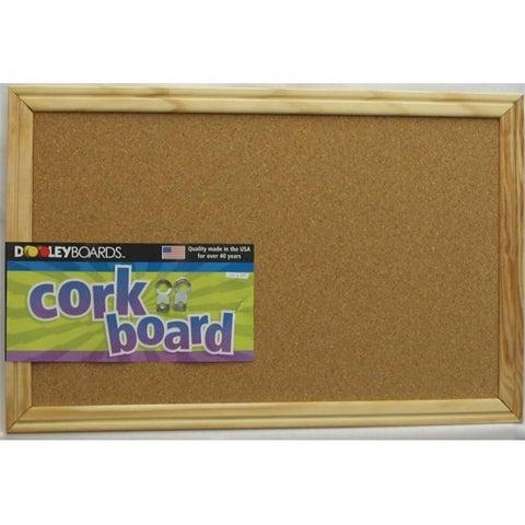 Dooley Boards Inc 11in. x 17in. Wood Framed Cork Board 1218 CO