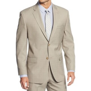 Sean John Mens Two-Button Suit Jacket Textured Pattern