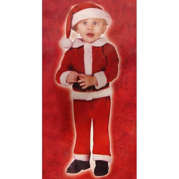 Little Santa Claus Toddler Costume - Size Small (24 months - 2T)
