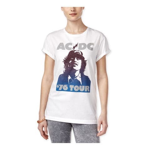 Hybrid Womens Ac/Dc '76 Tour Graphic T-Shirt