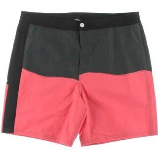Levi's Mens Cotton Blend Colorblock Swim Trunks