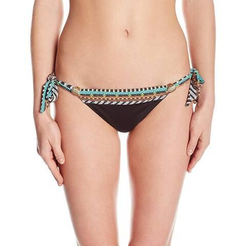 Nanette Lepore Women's Skimpy Side Tie Hipster Bikini Swimsuit Bottom SZ: M