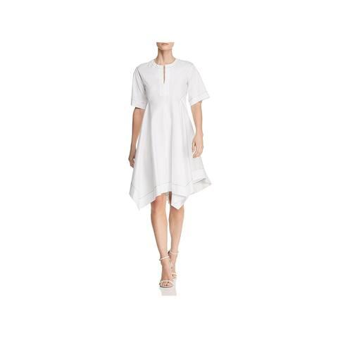 Donna Karan Womens Casual Dress Short Sleeves V-Neck