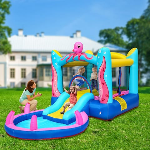 Octopus Inflatable Bounce Houses Castle with Water Function