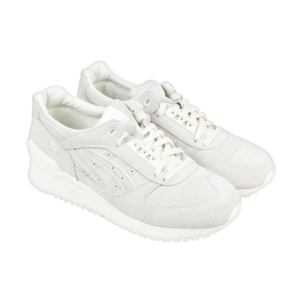 Asics Gel Respector Mens Gray Suede Athletic Lace Up Training Shoes
