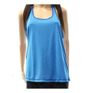 Zella NEW Blue Women's Size Medium M Striped Activewear Tank Tops