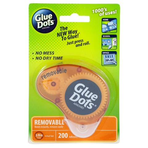 """Glue Dots 03670 Removable Adhesive Dispenser, 3/8"""""""