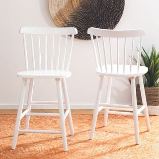 """Link to Safavieh Galena 24-inch Spindle Farmhouse Counter Stool (Set of 2) - 19.9"""" x 20.1"""" x 43.1"""" - 19.9"""" x 20.1"""" x 43.1"""" Similar Items in Dining Room & Bar Furniture"""