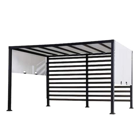 Sunjoy 10 ft. x 12 ft. Modern Steel Pergola