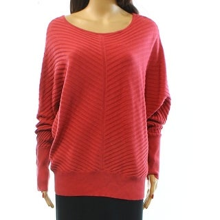 Alfani NEW Red Rose Women's Size Large L Ribbed Dolman Solid Knit Top