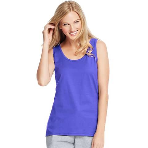 Hanes Live.Love.Color®; Scoop Neck Tank - Size - 2XL - Color - Petal Purple