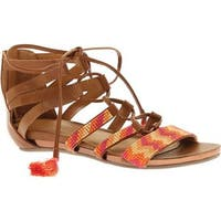 Kenneth Cole Reaction Women's Lost Look Lace Up Sandal Tan Polyurethane