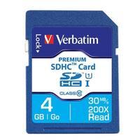Verbatim 96171 Premium SDHC Memory Card, UHS-I Class 10, 4GB