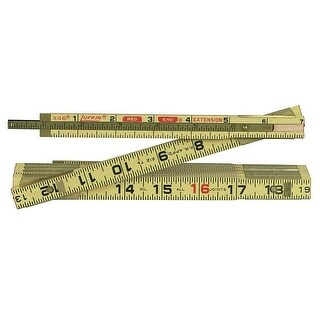 """Lufkin HS46N Red End Extension Folding Wood Rule, 6' x 5/8"""""""