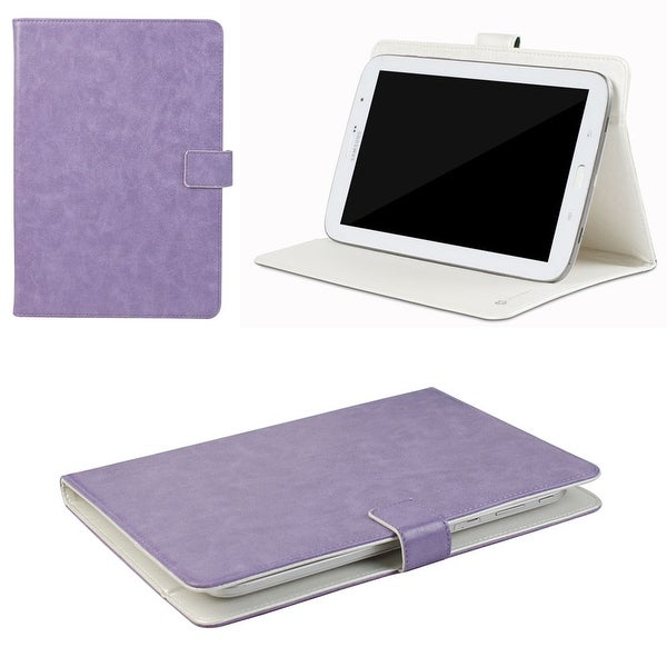 "JAVOedge Purple Vintage Pattern Universal Book Case for 7-8"" Tablets, iPad Mini, Samsung Tab, Nexus 7, Nook HD and More"