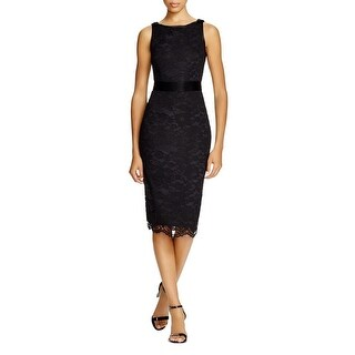 ABS by Allen Schwartz Womens Party Dress Lace Bow
