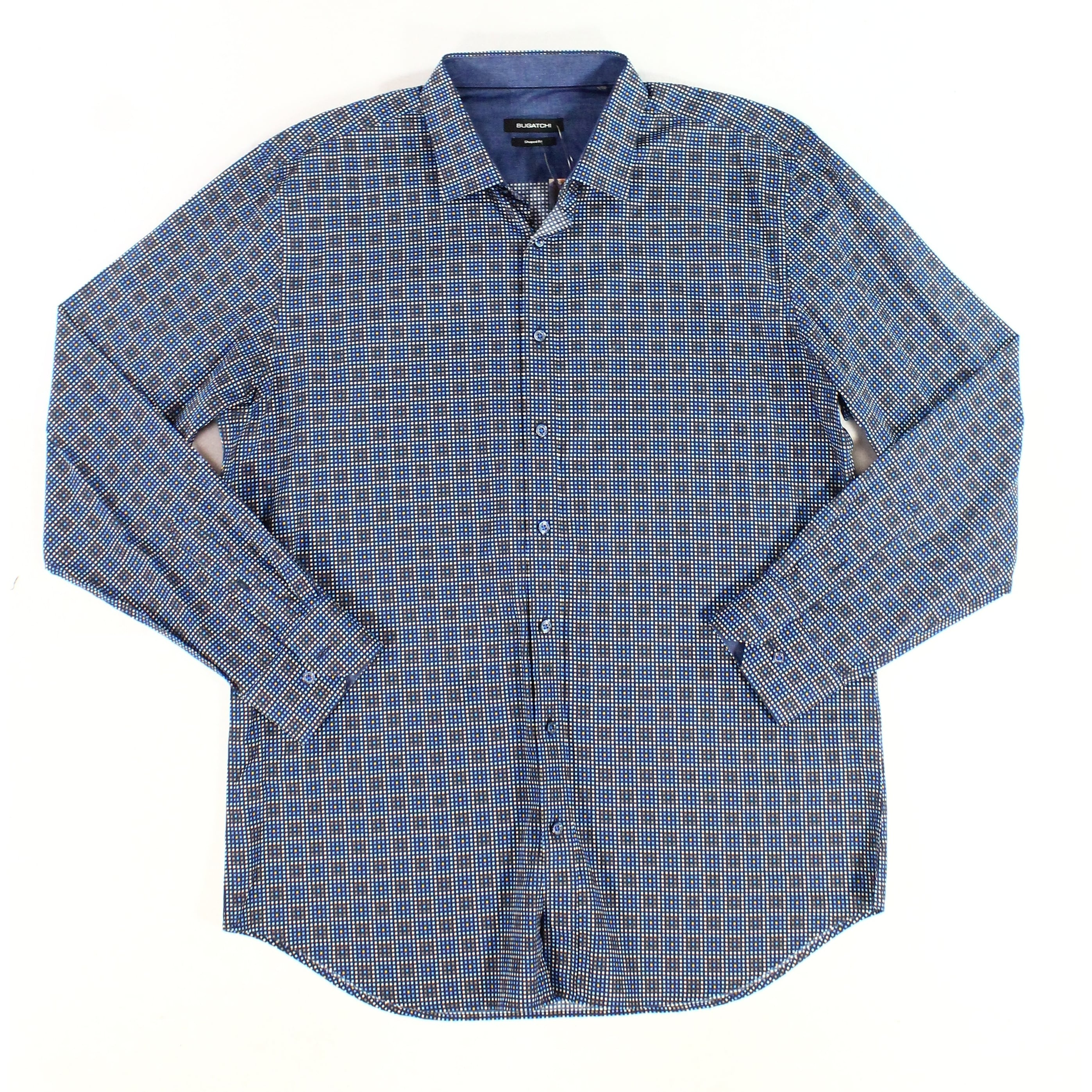 Bugatchi Mens Slim Fit Long Sleeve Casual Button Down Shirt