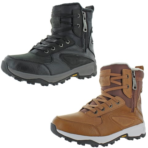 Pajar Men's Toretto Leather Waterproof Cold Weather Winter Snow Boots
