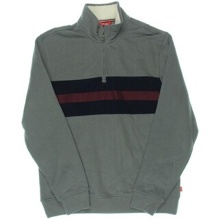 Izod Mens Fleece Jacket Colorblock Fleece