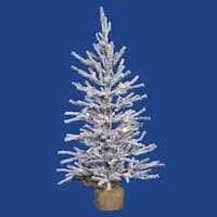 2.5' Flocked Angel Pine Artificial Christmas Tree - Unlit